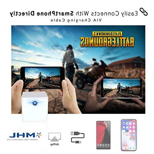 Vamvo S2 Cubic Mini Projector Portable 100 ANSI Smartphone Entertainment.