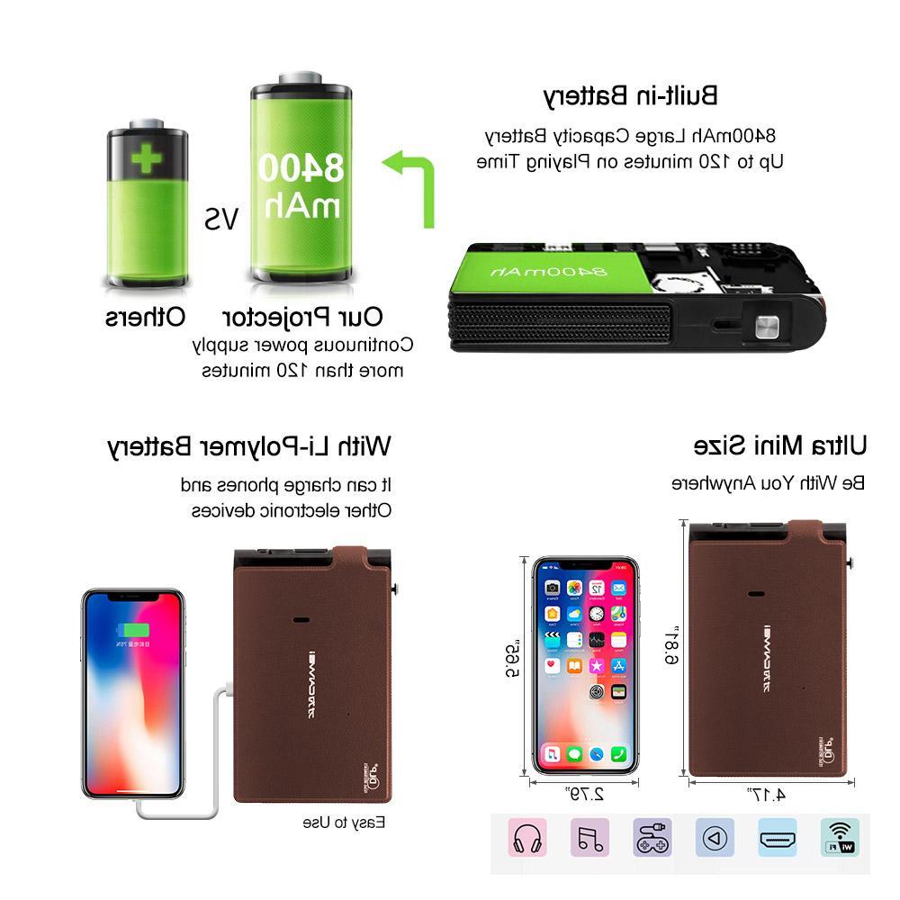 Caiwei <font><b>Mini</b></font> 3D LED Home HD <font><b>Video</b></font> WIFI Beamer Smartphone <font><b>Projectors</b></font>