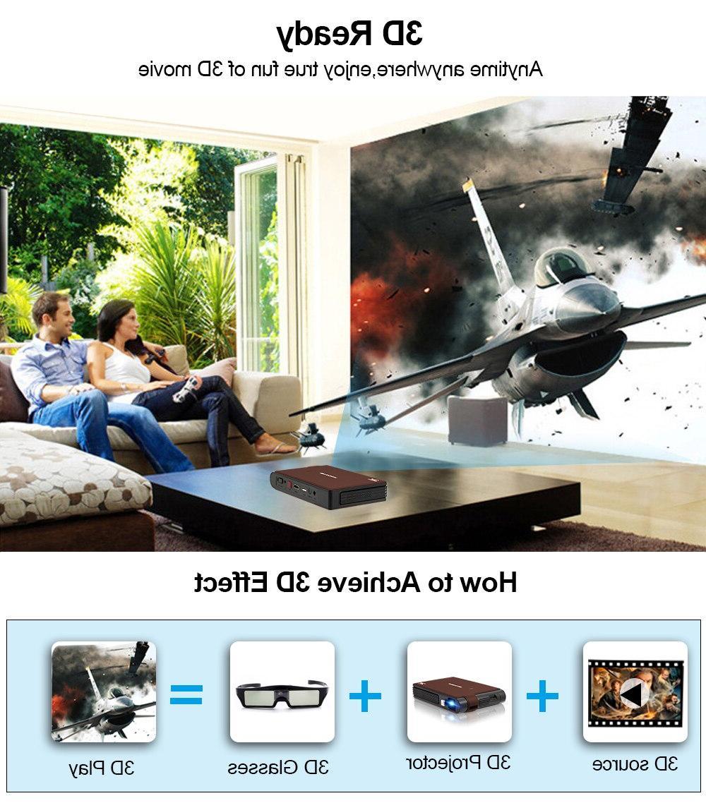 Caiwei S6W Portable <font><b>Mini</b></font> LED Home Cinema HD <font><b>Video</b></font> Beamer For Smartphone <font><b>Projectors</b></font>