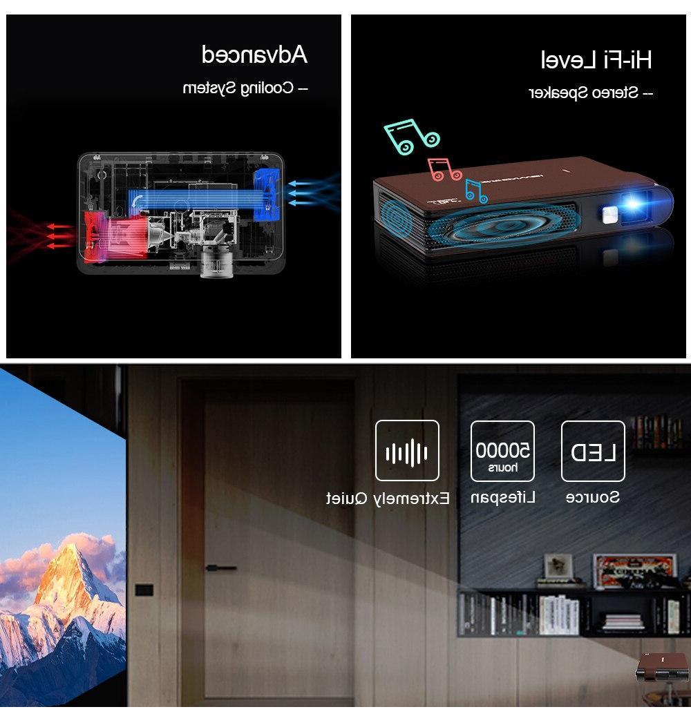 Caiwei S6W <font><b>Mini</b></font> DLP <font><b>Projector</b></font> LED HD Mobile Beamer For Smartphone <font><b>Projectors</b></font>