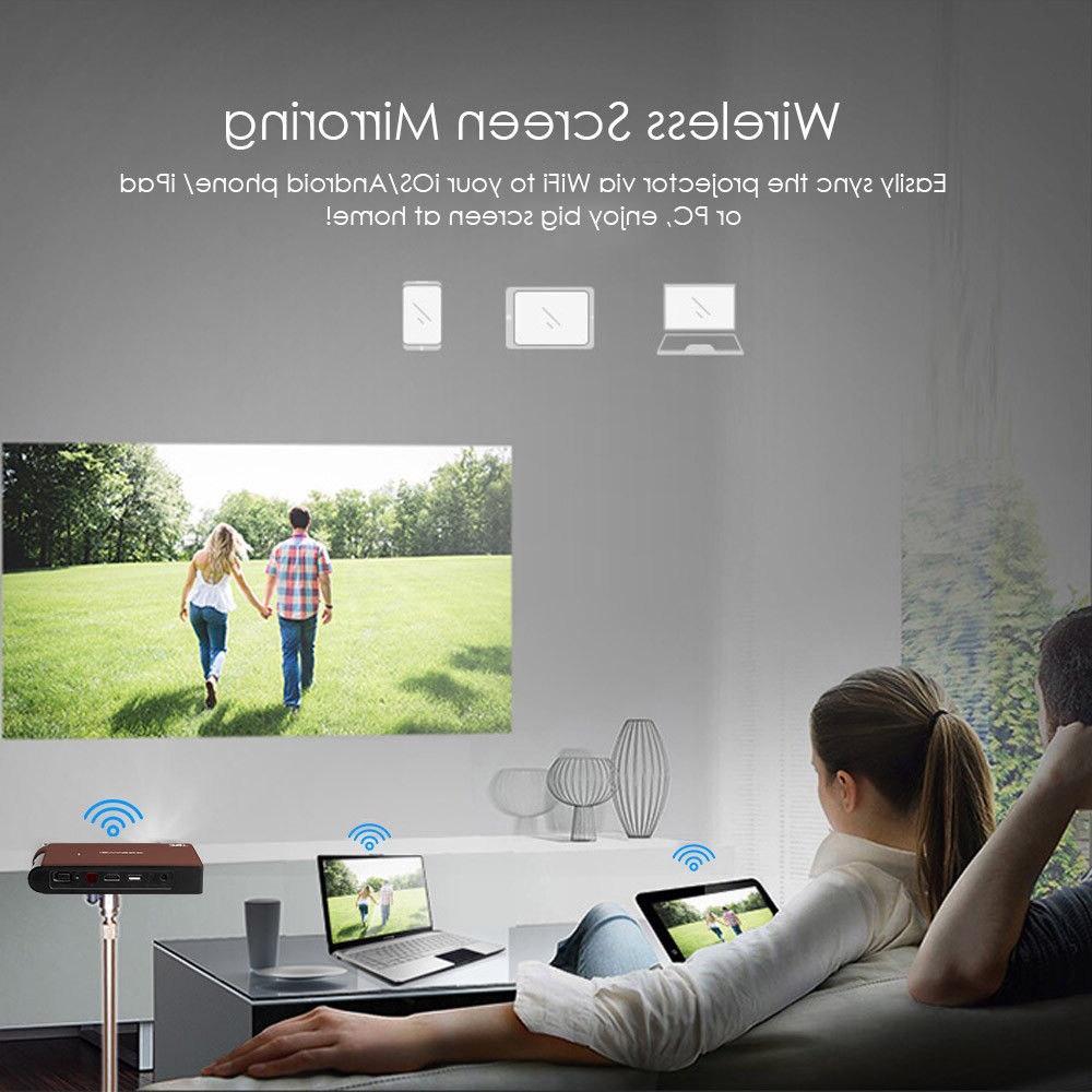 Caiwei Portable <font><b>Mini</b></font> DLP <font><b>Projector</b></font> LED Full Beamer For Smartphone TV <font><b>Projectors</b></font>