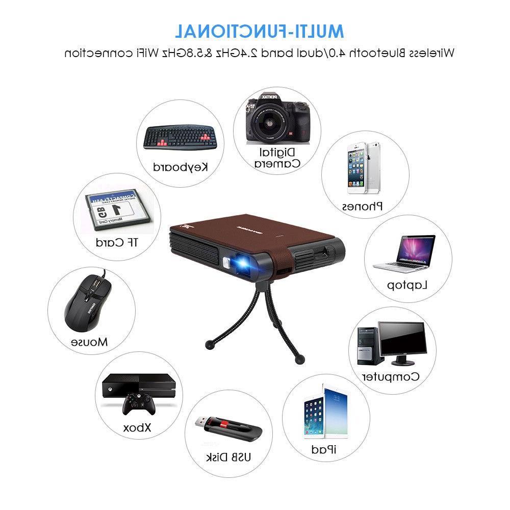 Caiwei <font><b>Mini</b></font> LED Home Cinema Full HD WIFI Beamer For Smartphone <font><b>Projectors</b></font>