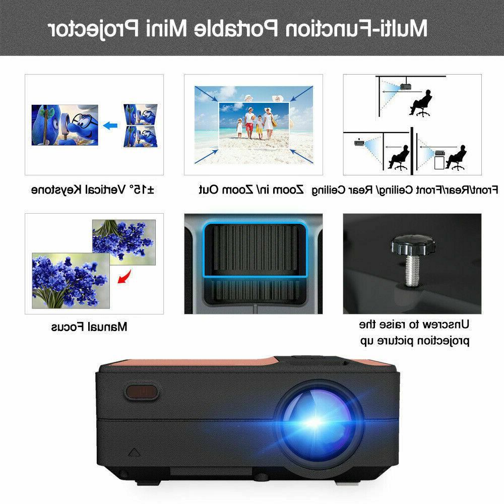 CAIWEI Mini Android Projector Blue-tooth Movie