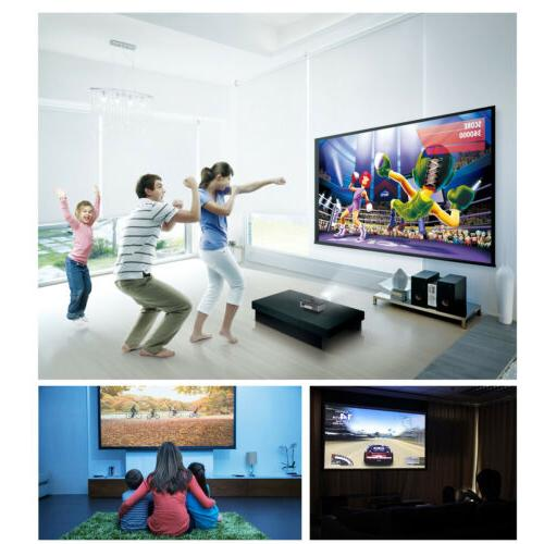 Mini WiFi Blue-tooth Projector Game Apps HDMI
