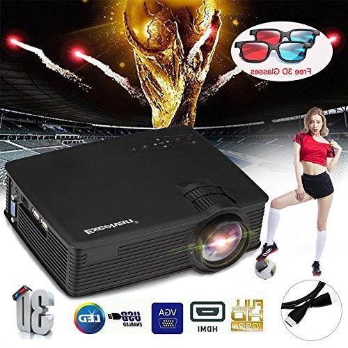 SMARTTECH 7000LUMEN 3D 1080P HOME CINEMA USB
