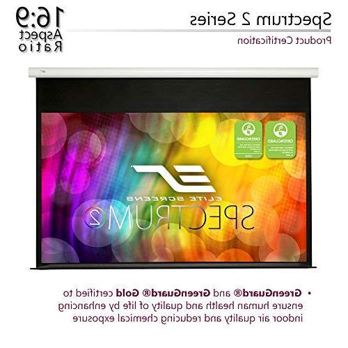 Elite 16:9, Motorized Drop Projection Projector Screen,
