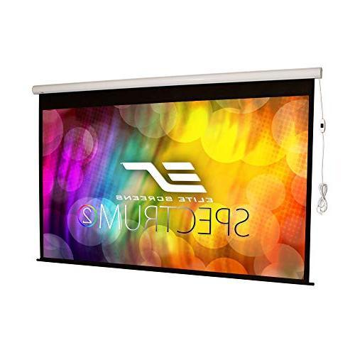 Elite Screens 100-inch 16:9, Drop, Electric Motorized Drop Down Projector Screen, SPM100H-E12