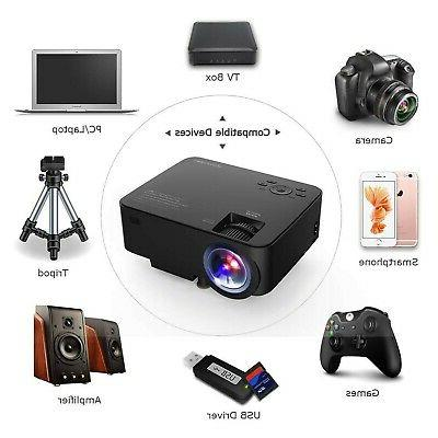 DBPOWER T20 Movie Projector, Multimedia Home Theater Projector...