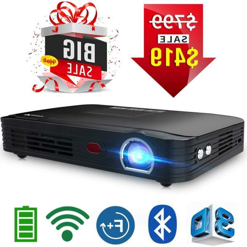 t8e full hd mini portable projector wifibluetooth
