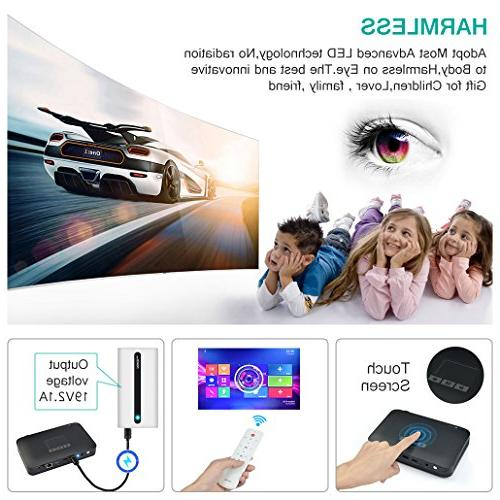 WOWOTO Mini Portable Home 1080P Max300 Video Battery 7800mAh Android for Business&Education