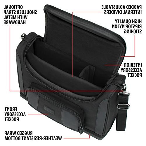 USA GEAR Projector Carrying Case Dividers & Shoulder With Ezapor , , More Small
