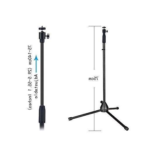 """Projector Stand, Height 29.5"""" to Floor Stand Ball Head Small Camera, Webcam, GoPro with Carry"""