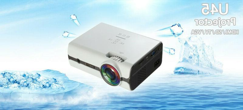 u45 1600 lumens 1080p multimedia portable hd