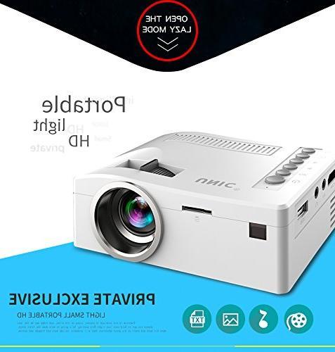 Fosa UC18 Mini video Projector, HD 1080P Theater Cinema Mini Projector Support VGA SD AV language, Movie Nights and Video