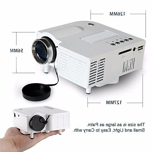 Fosa Pico Projector Cinema Digital 1080P LCD Portable PC&Laptop Input Projector