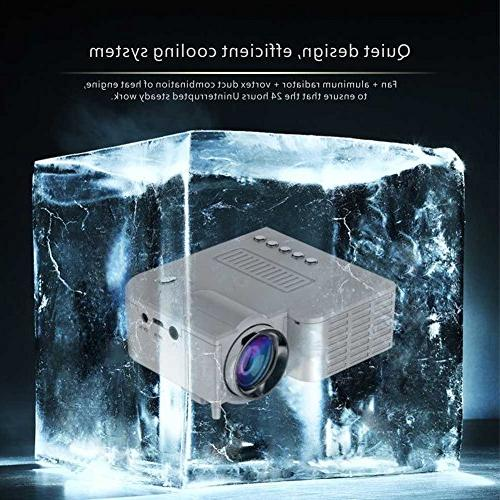 Fosa Mini Pico Projector Home Digital 1080P HD LED LCD PC&Laptop Multimedia Projector