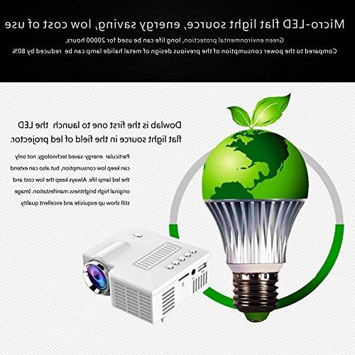 Fosa Mini Pico Projector Theater Digital LED LCD Portable Projector Projector