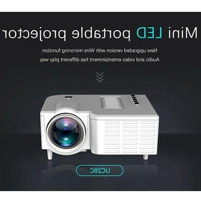 UC28C Projector USB Mini Projector Home Media Can Be Dire T4A2