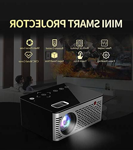 BEESCLOVER Pocket LED Keys AV Video Projector Support External US