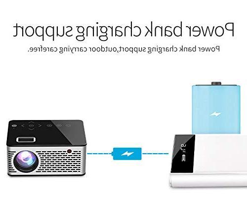 BEESCLOVER Ultra Portable Pocket Projector Keys HDMI USB AV Video Support Power US