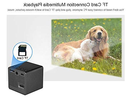 BEESCLOVER Projector Full HD Mini Theater Projector P1