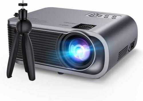upgraded mini projector with tripod 720p hd