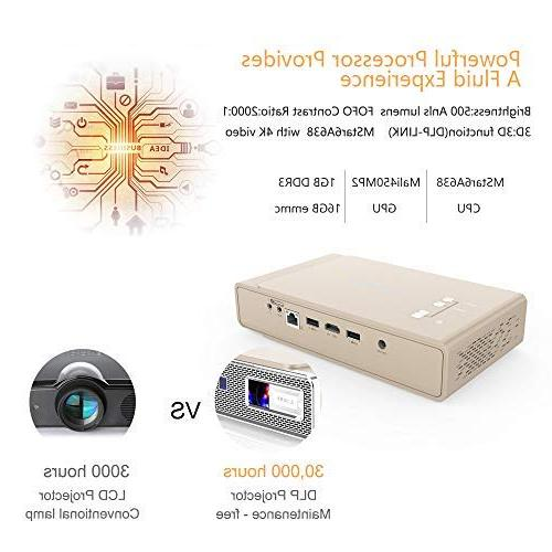 Toumei V5 Projector, &Office ANSI lumens Inches/DLP