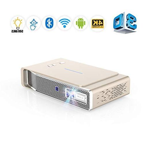 Projector, &Office ANSI lumens Dual-Band Wi-Fi/BT-4.2/Ultra Business&Education