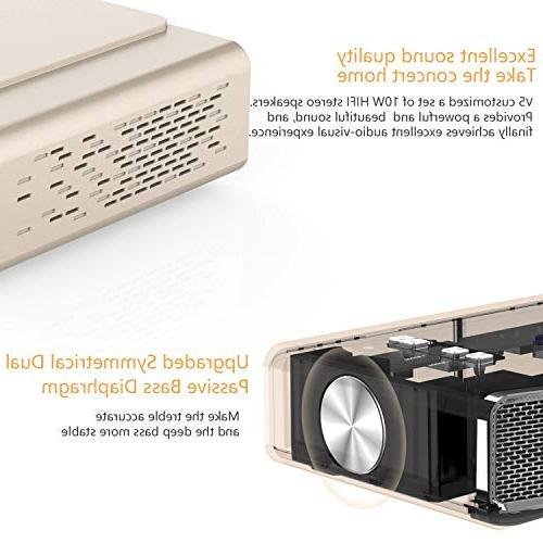 Toumei V5 Mini Projector, Theater &Office Projector 500 ANSI lumens Wi-Fi/BT-4.2/Ultra Inches/DLP Business&Education