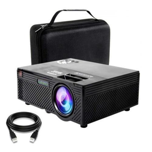 video projector 2400 lumens home mini