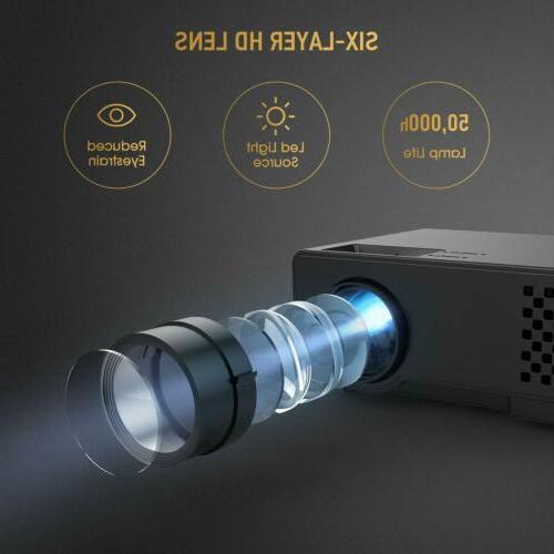 "Video -DBPOWER Portable Mini Projector, 176"" Display"