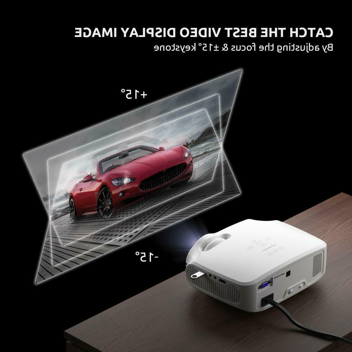 Video Projector, Mini Home Portable Projector