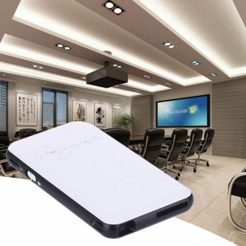 WiFi Mobile Cinema DLP Projector+Smart F IOS Android Phone PC BT4.0