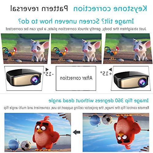WiFi WEILIANTE 50% Brighter LED Mini Projector, Device USB VGA AV