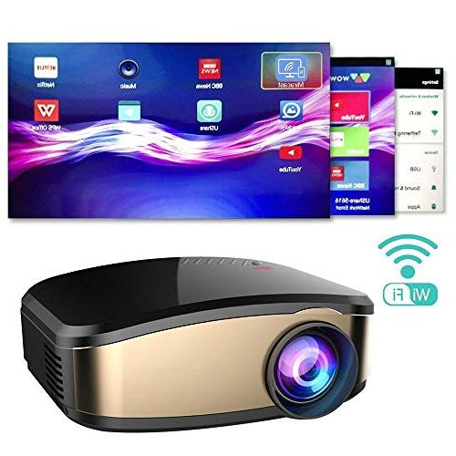 WiFi Movie 50% Brighter LED Mini Projector, Directly Connect Device Support