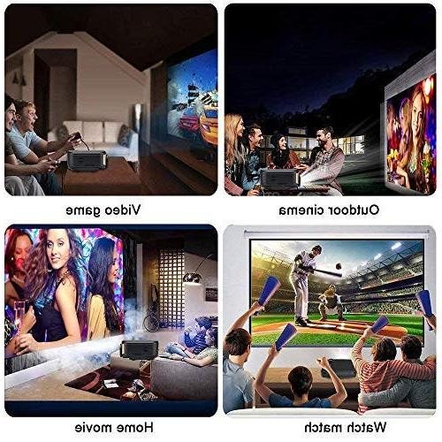 WiFi Projector, Cheng Portable Projector LED Home with HDMI/ USB/ VGA/ AV PC Laptop