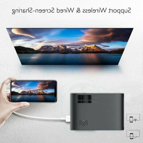 4K HD WiFi 3D LCD Mini Theatre 18000LM HDMI US