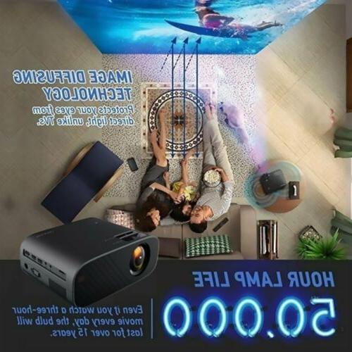 4K 1080P 3D LCD Mini Video Theatre Cinema 18000LM HDMI