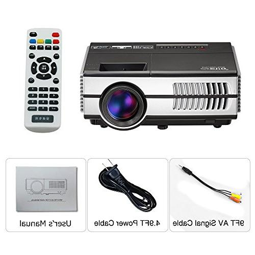 Wireless Mini LCD- Multimedia for Home Cinema Movie Video Outdoor Speaker, VGA, Audio jack, Remote