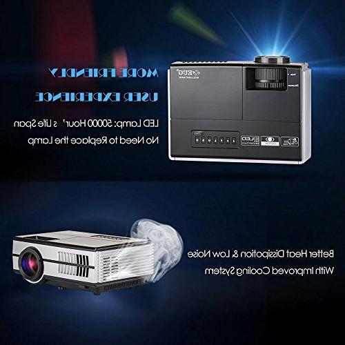 Wireless Mini LCD- 1500 Cinema Video Outdoor including Speaker, Keystone, VGA, 3.5mm Remote