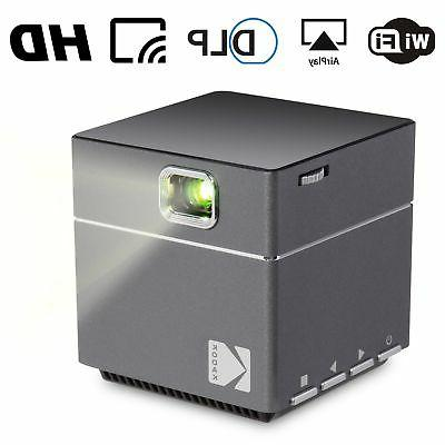Kodak Projector - DLP LED 1080p Projector Miracast, iOS Airplay Phones Rechargeable Speakers HDMI Micro SD Card