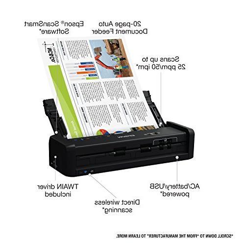 Epson ES-300W Color Portable Document with Duplex Scanning