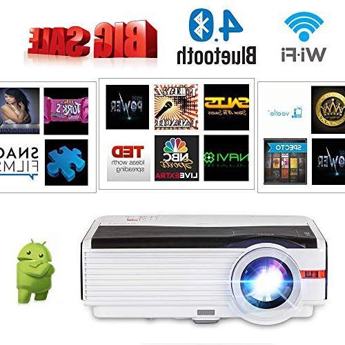 wxga wireless bluetooth projector support