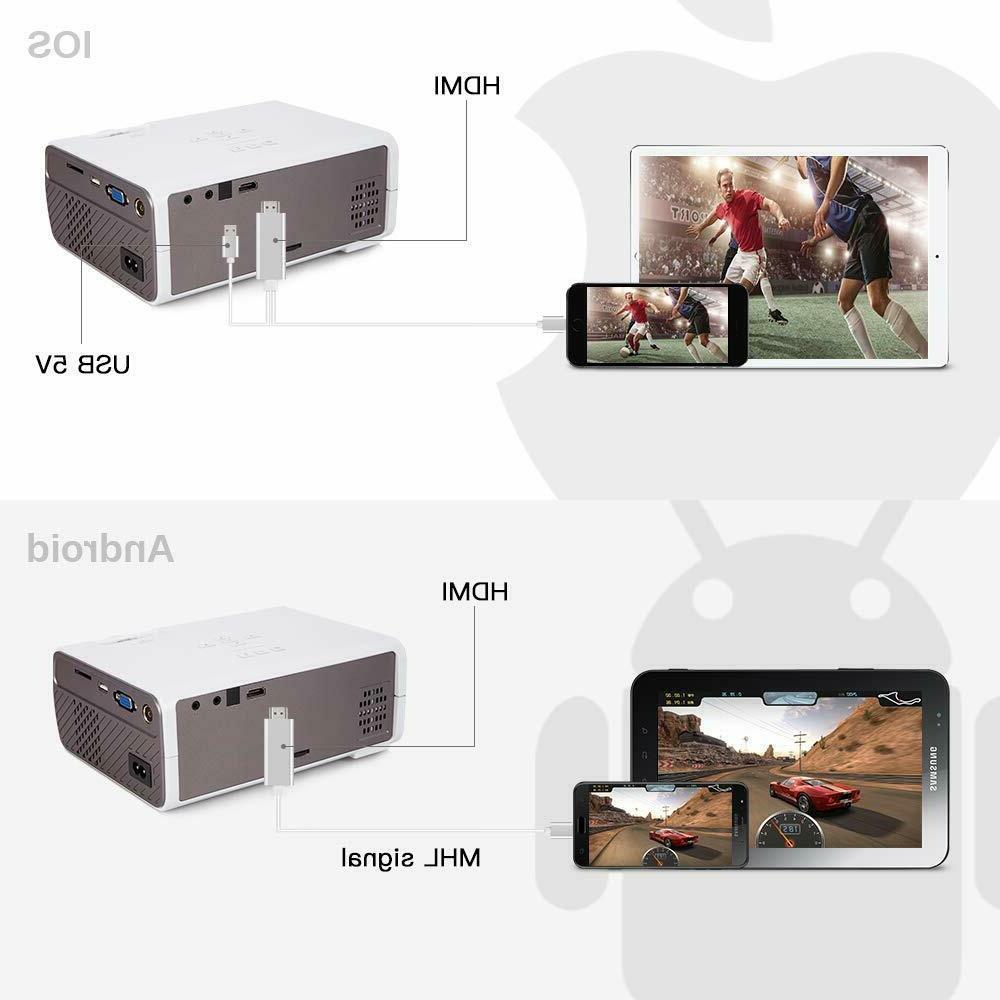 CRENOVA Mini Full 1080P and 170'' Display