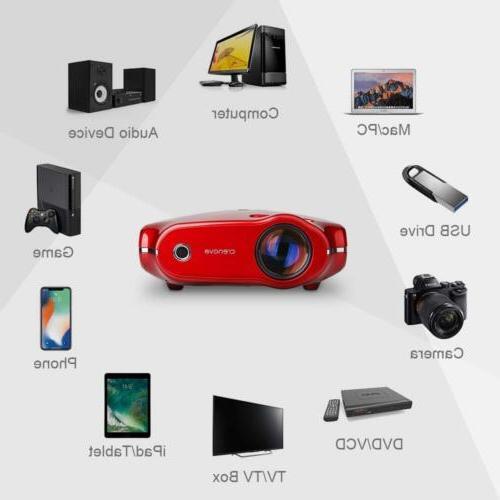 Crenova XPE498 Home Projector 3200 Lumens 1080P Projector