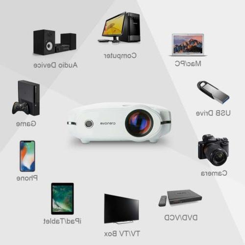 Crenova Projector 3200 Lumens 1080P Projector