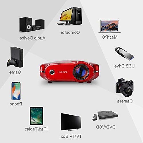 Crenova XPE498 Video Multimedia Home 3200 Lumens, Supports HDMI/VGA/USB/AV/SD/PC/Smartphone/Tablet/Xbox for