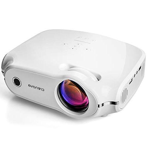 Crenova XPE498 Projector – with for Home Theater/Outdoor/Video