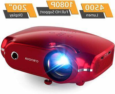 Crenova 1080P Full HD Supported Home Theater Mini Video Proj
