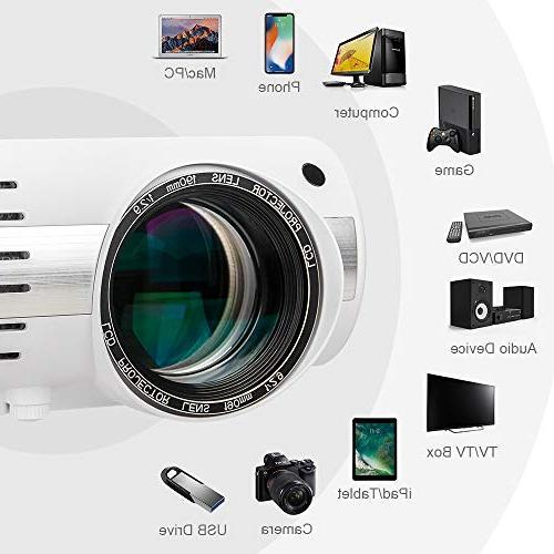 Crenova Entertainment Projector Full 1080P - 5,000 Create Native Gives